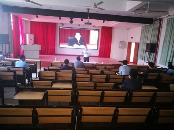 我校组织参加全省复学返校工作录播视频会议
